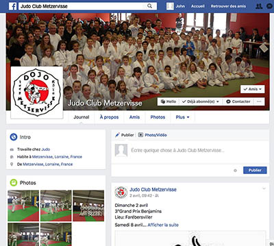 Facebook Judo Club Metzervisse